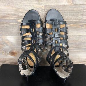 Sam Edelman Shoes - Sam Edelman Gladiator Beck Black Flat Sandals
